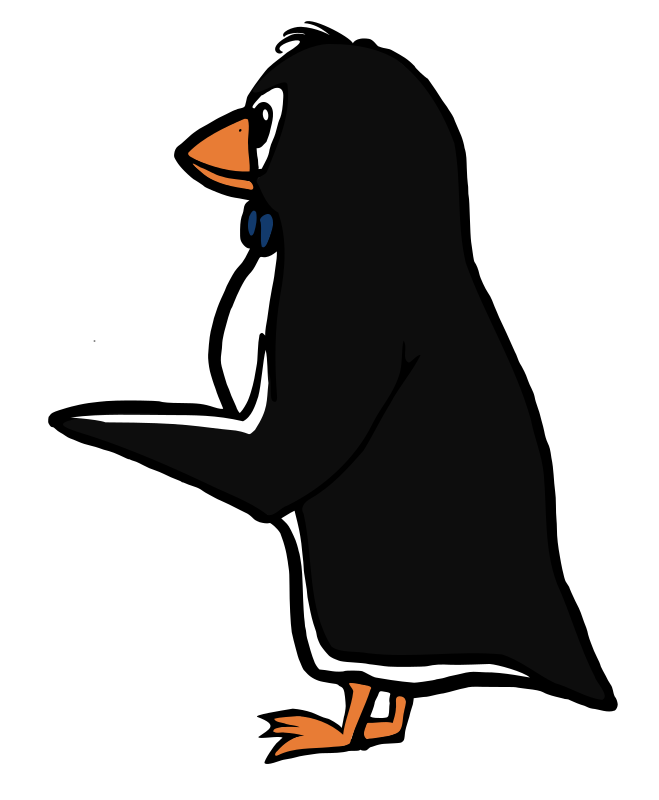 Pointing Penguin Clipart png free, Pointing Penguin transparent png