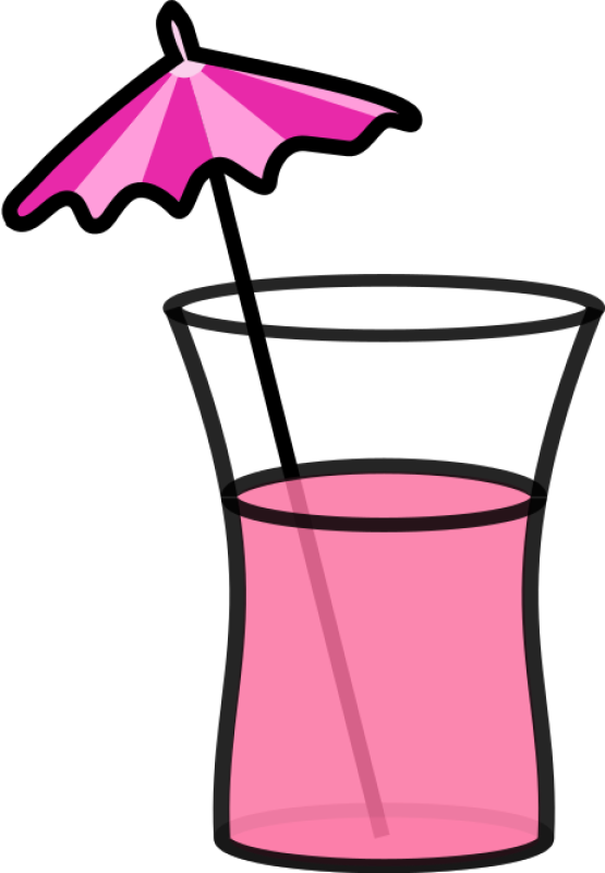Pink Cocktail Clipart png free, Pink Cocktail transparent png