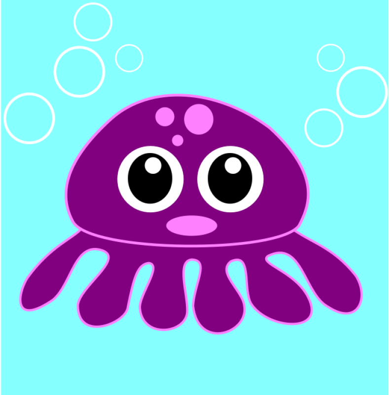 Funny Octopus Clipart png free, Funny Octopus transparent png