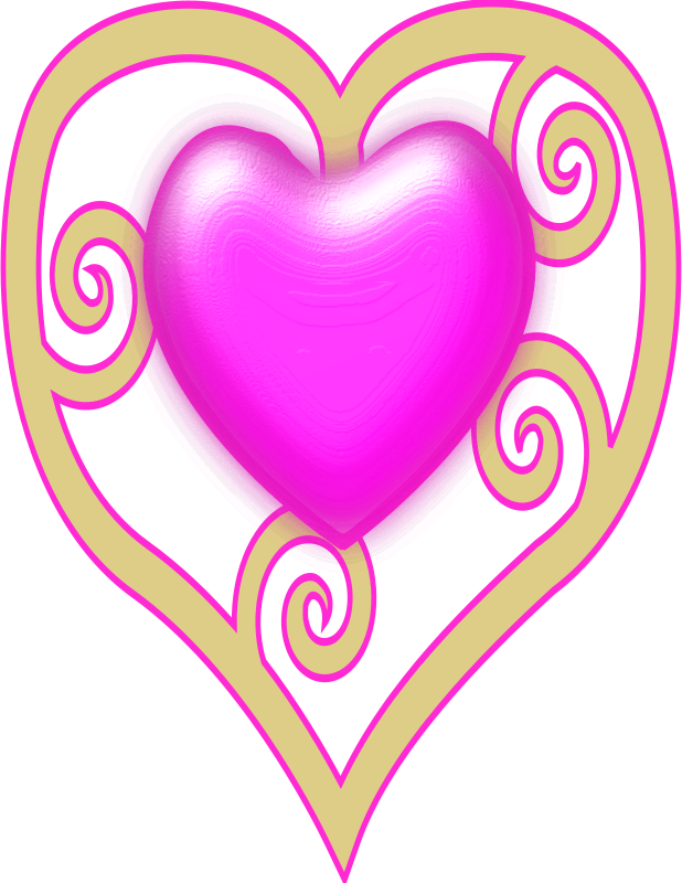Princess Crown Heart Clipart png free, Princess Crown Heart transparent png