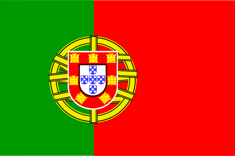 Flag Of Portugal Clipart png free, Flag Of Portugal transparent png