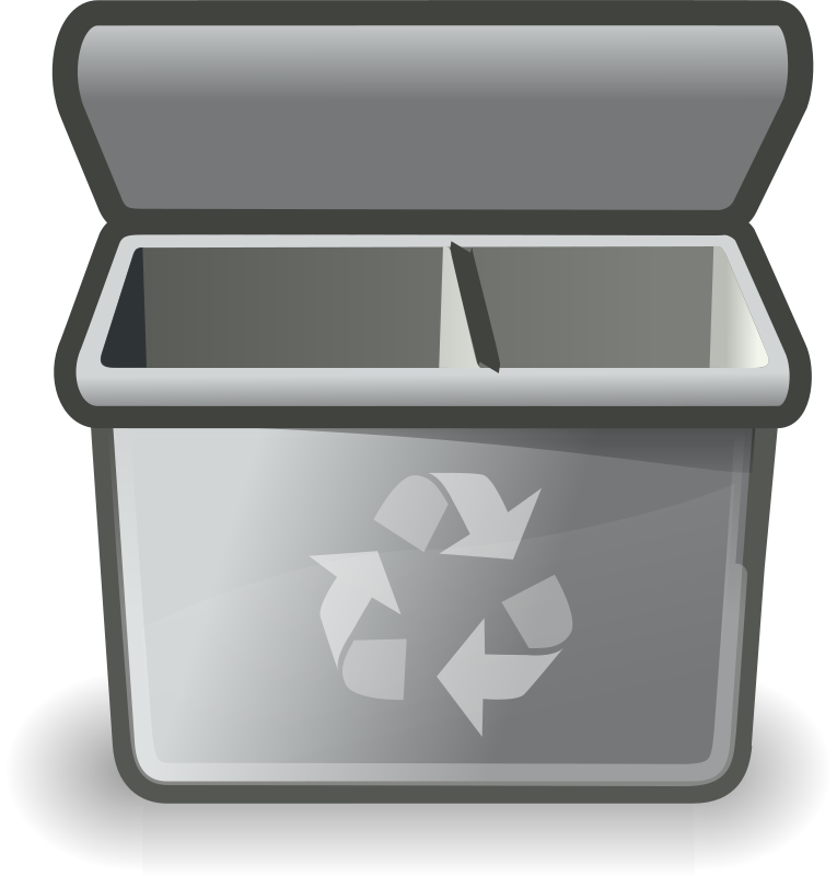 Gray Recycle Bin Clipart png free, Gray Recycle Bin transparent png