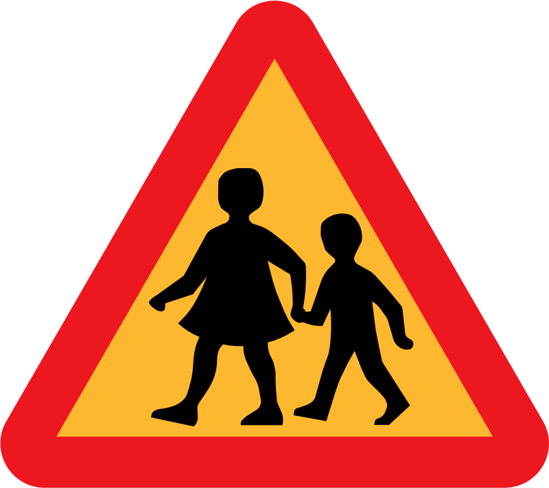 Children Crossing Road Sign Clipart png free, Children Crossing Road Sign transparent png