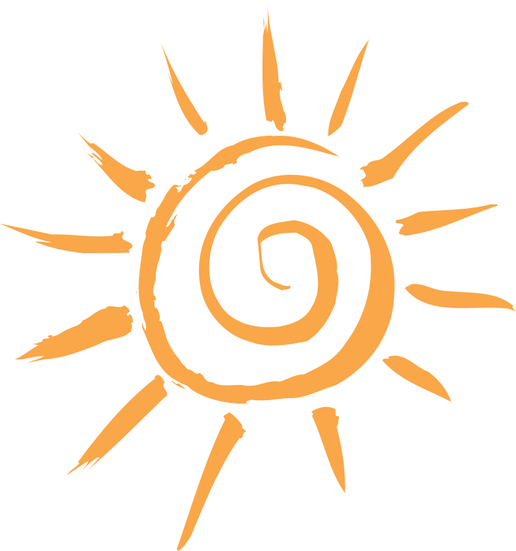 Simple Sun Motif Clipart png free, Simple Sun Motif transparent png