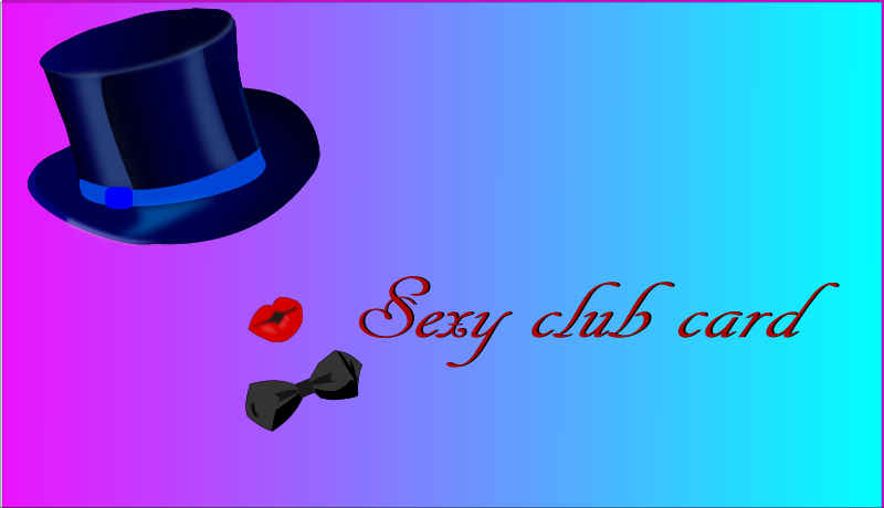 Sexy Club Card Clipart png free, Sexy Club Card transparent png