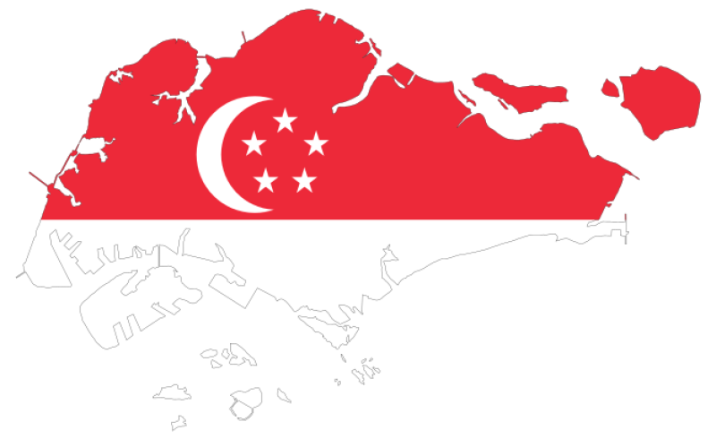 Flag Of Singapore Clipart png free, Flag Of Singapore transparent png