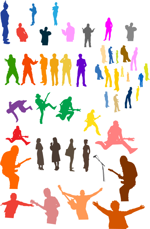 Silhouettes Clipart png free, Silhouettes transparent png