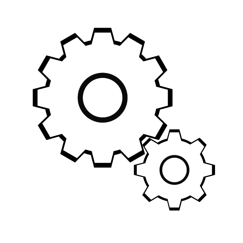 Simple Gears Clipart png free, Simple Gears transparent png
