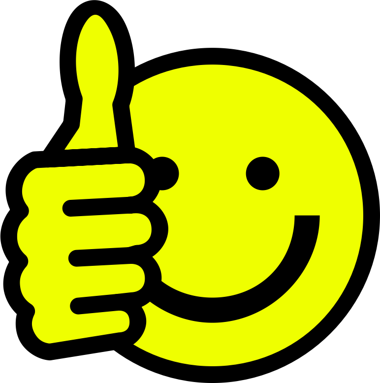 Thumbs Up Smiley Clipart png free, Thumbs Up Smiley transparent png