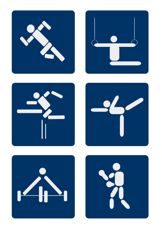 Sport Pictograms Clipart png free, Sport Pictograms transparent png