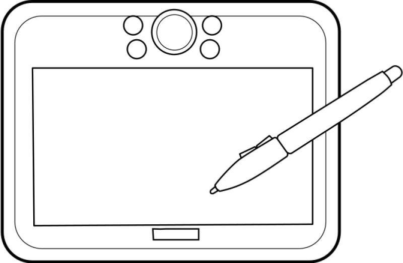 Graphic Tablet Clipart png free, Graphic Tablet transparent png