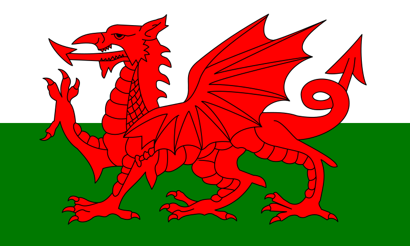 Flag Of Wales - United Kingdom Clipart png free, Flag Of Wales - United Kingdom transparent png