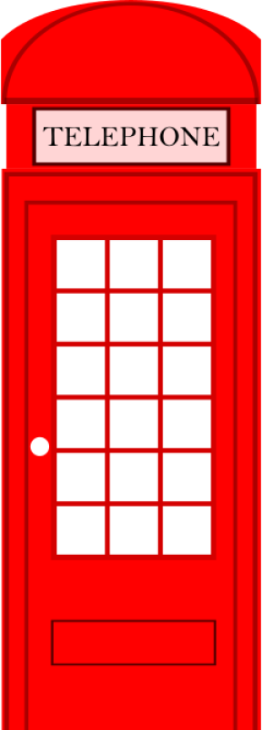 London Phone Booth Clipart png free, London Phone Booth transparent png