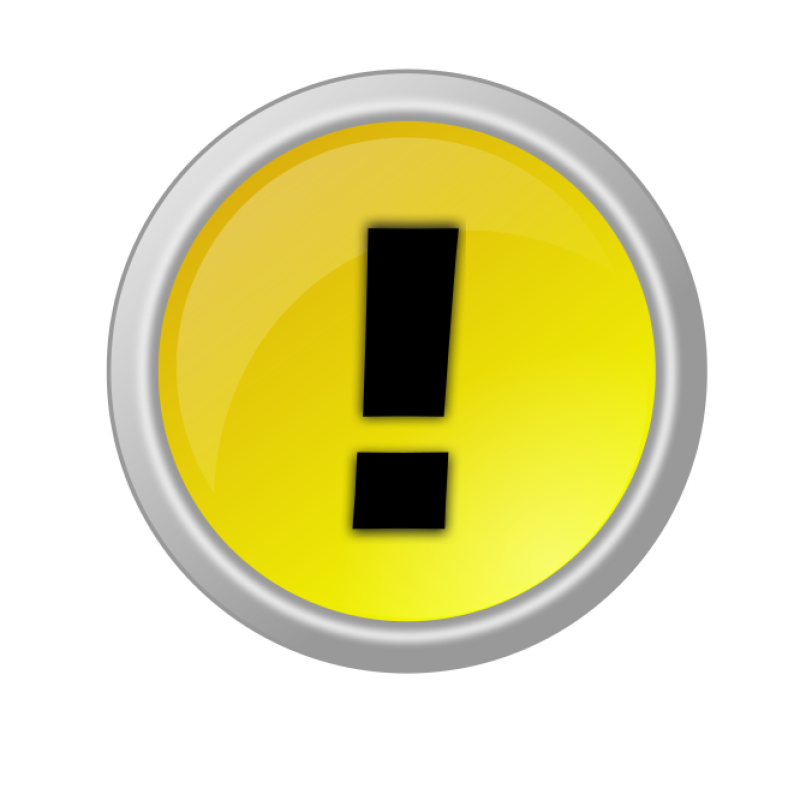 Warning Button Clipart png free, Warning Button transparent png