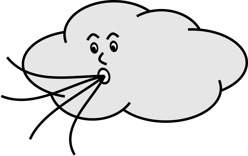 Wind Blowing Cloud Clipart png free, Wind Blowing Cloud transparent png