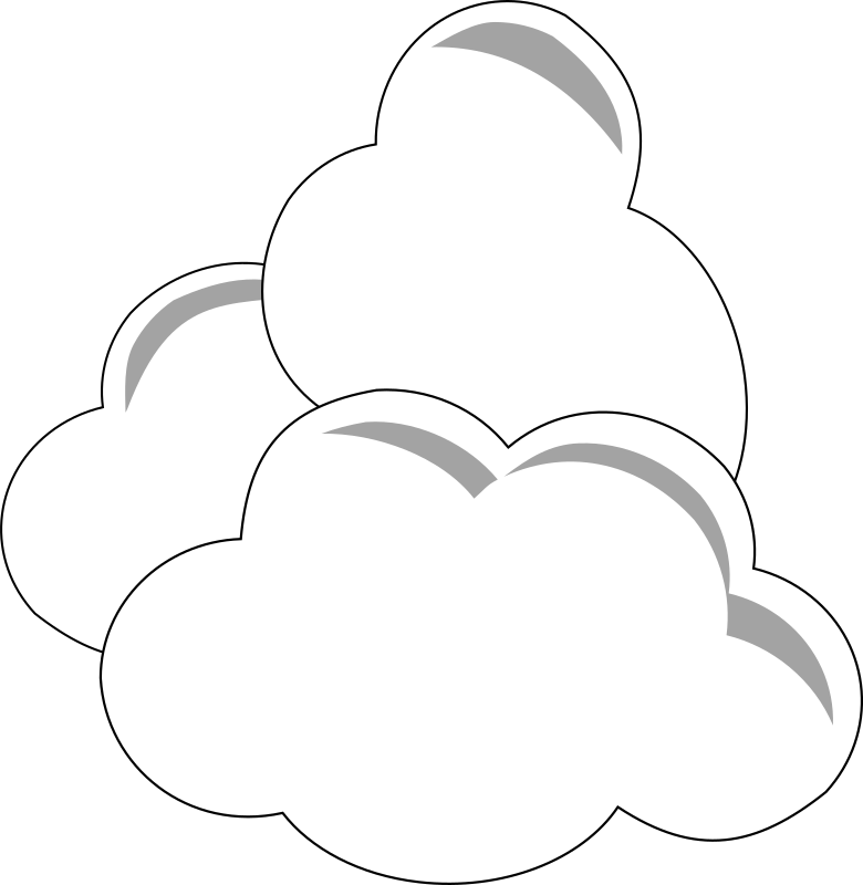 Simple Clouds Clipart png free, Simple Clouds transparent png