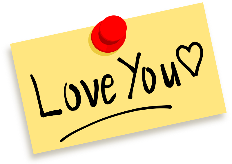 Thumbtack Note Love You Clipart png free, Thumbtack Note Love You transparent png